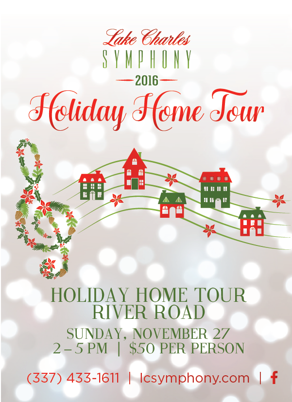 Lake Charles Symphony Holiday Home Tour 2016