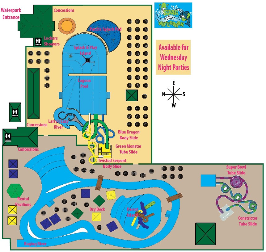 SPAR Waterpark Map