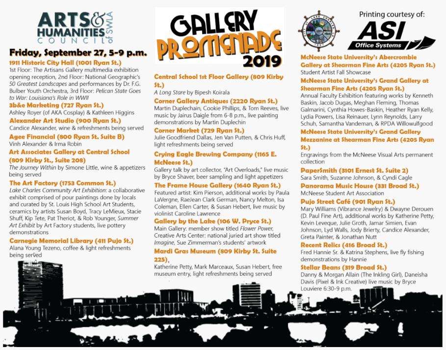 Gallery Promenade 2019 Locations