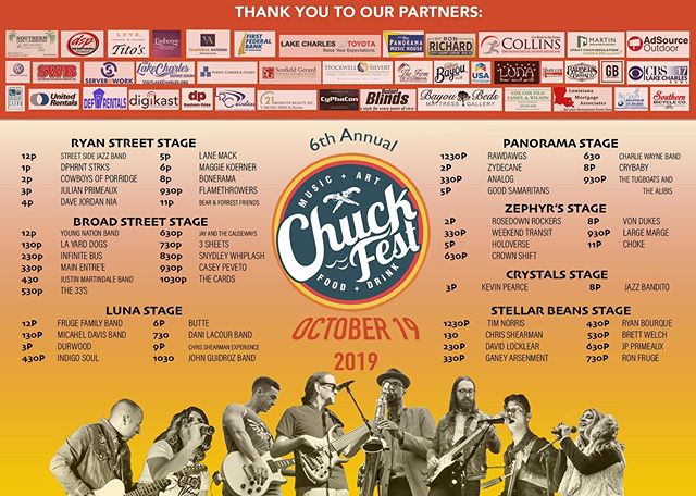 Chuck Fest Music Line-Up and Schedule