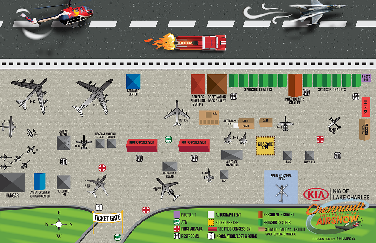 Airshow Grounds Map
