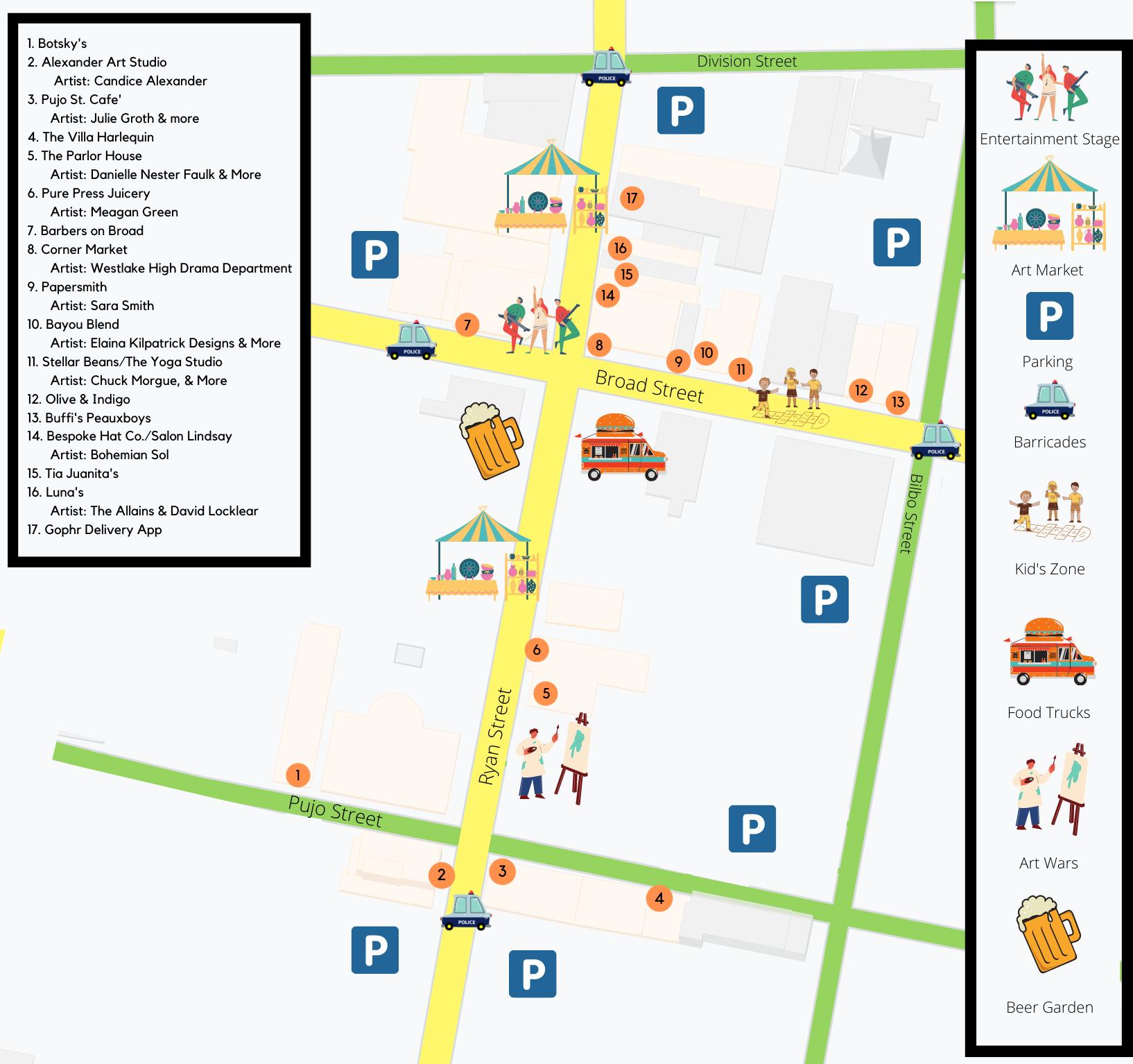 Spring Art Walk Map 2021